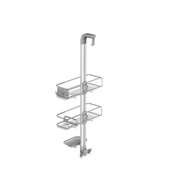 over door adjustable shower caddy - back view with adjustable dials image