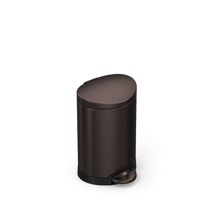 6L semi-round step can - dark bronze finish - 3/4 view main image