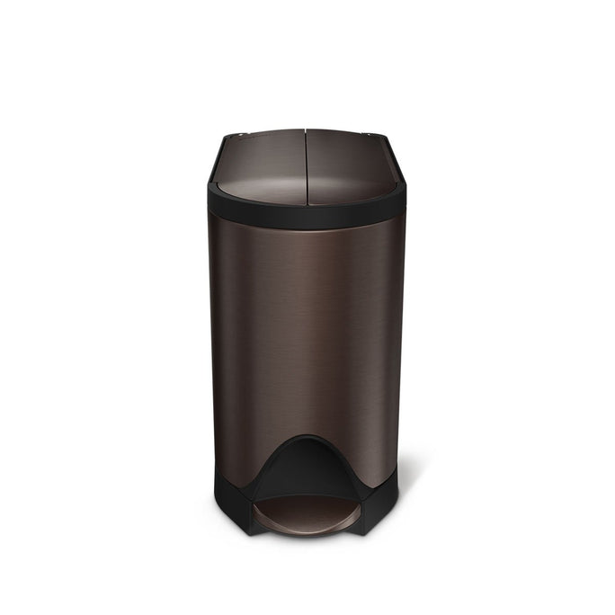 10L butterfly step can - dark bronze finish - main image