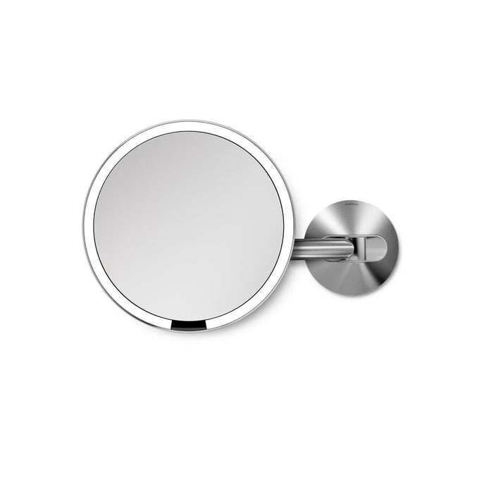 hard-wired wall mount sensor mirror - brushed finish - main image
