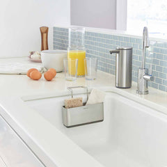 slim sink caddy - lifestyle attched to kitchen sink with sensor pump