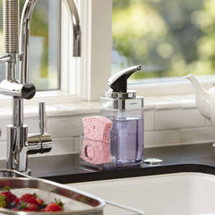 square push pump with caddy - lifestyle near kitchen sink