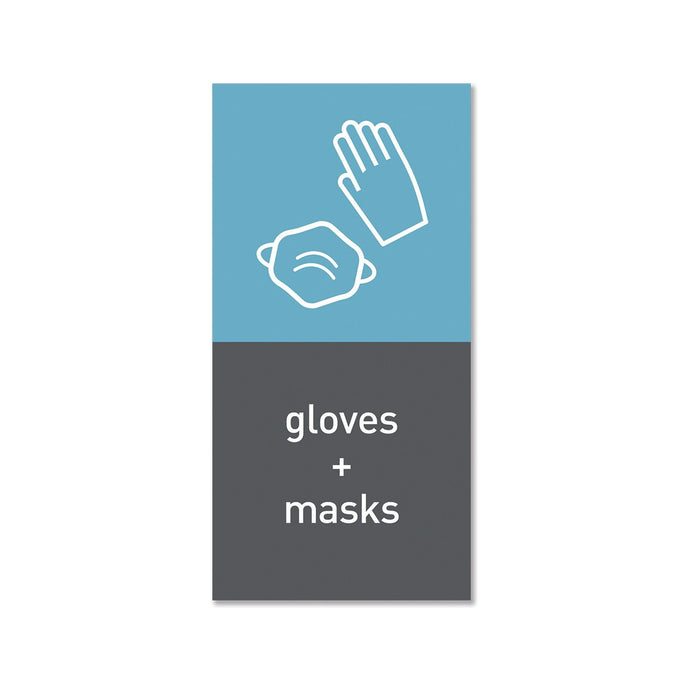 magnetic sorting label - gloves and masks - main image