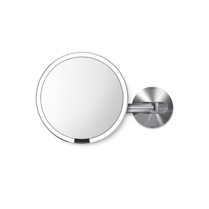 rechargeable wall mount sensor mirror - brushed finish - main image