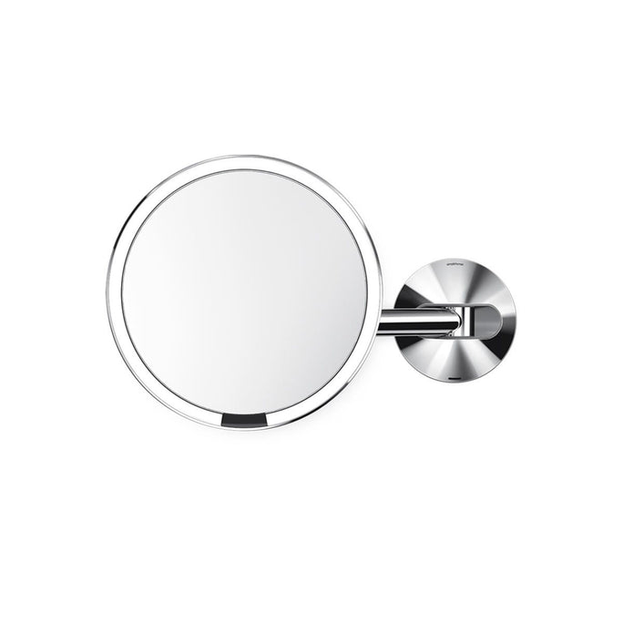 rechargeable wall mount sensor mirror - polished finish - main image