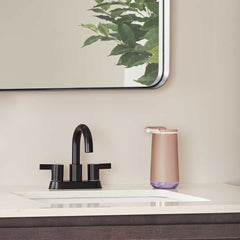 foam sensor pump - rose gold finish - lifestyle pump on bathroom sink image