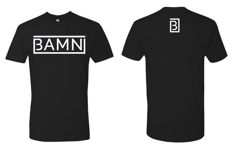 BAMN Black w/ white Logo Crew Neck T-Shirt