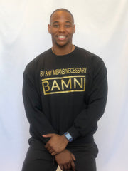 BAMN Black Crewneck Sweatshirt