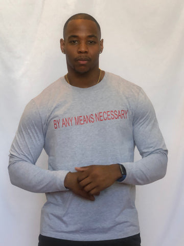 BAMN Grey Long-Sleeve Tee