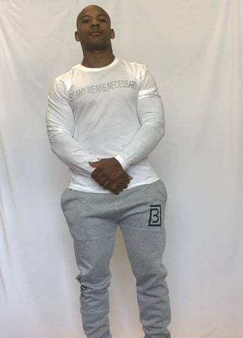 BAMN White Long-Sleeve Tee