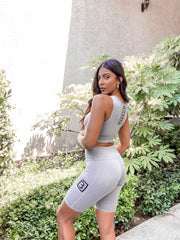 BAMN Biker Shorts w/ Crop Top Set