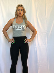 BAMN Grey Crop Top Tank
