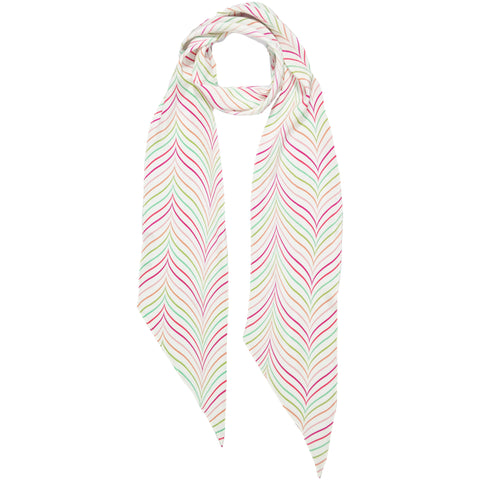 Bakewell Classic Skinny Scarf Ivory