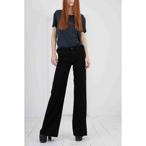 Medium Rise Non-Stretch Loon Pant Black