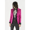 Classic Two Button Blazer Raspberry Satin Raspberry
