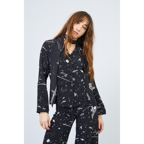 Cosmic Dancer Black Pyjama Top