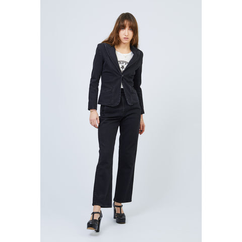 Denim Tailored Trouser Black