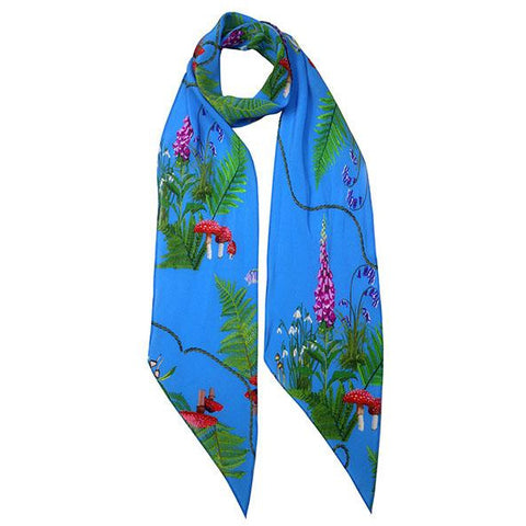 Magic Meadow Classic Skinny Scarf Blue