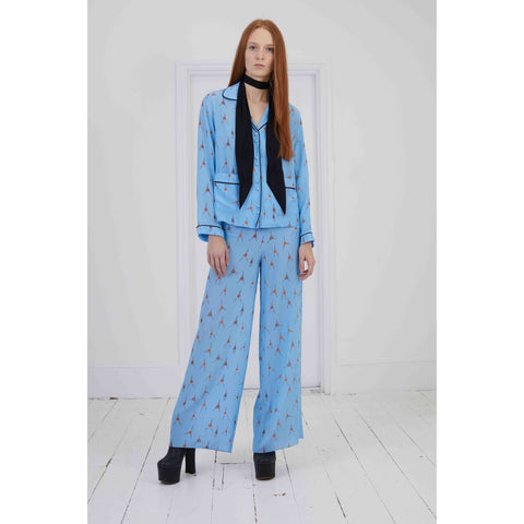 Pyjama Trousers Blue Monkey