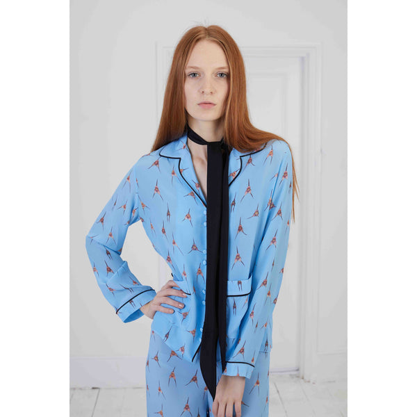 Pyjama Top Blue Monkey