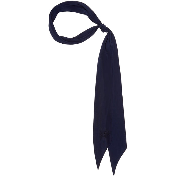 Plain Super Skinny Scarf Blue