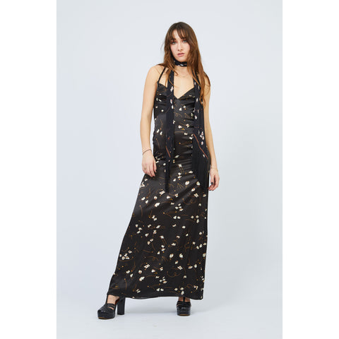 Popcorn Long Slip Dress