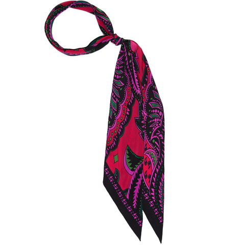 Prickly Paisley Super Skinny Scarf Hot Pink