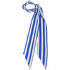 Stripy Super Skinny Scarf Blue & White