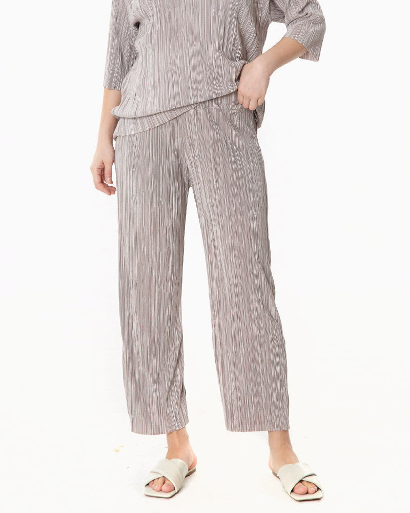 EASY PLEATED TOP & PANTS SET