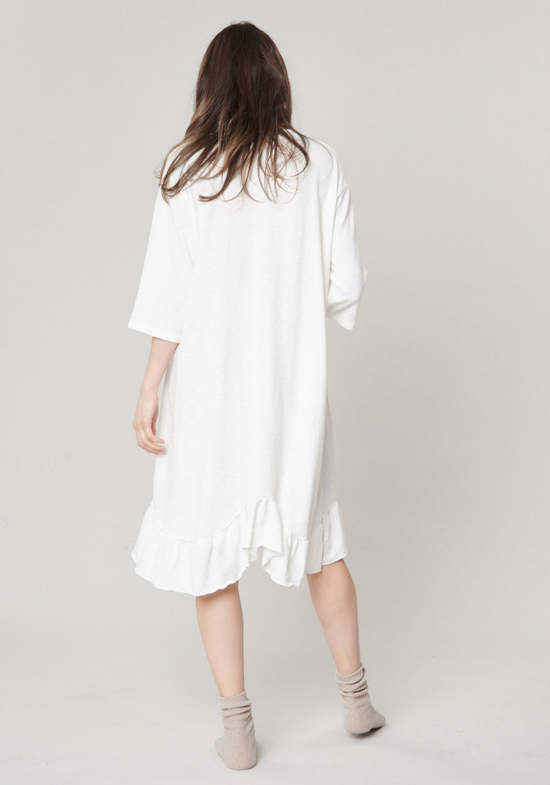 COTTON FRILL NURSING DRESS