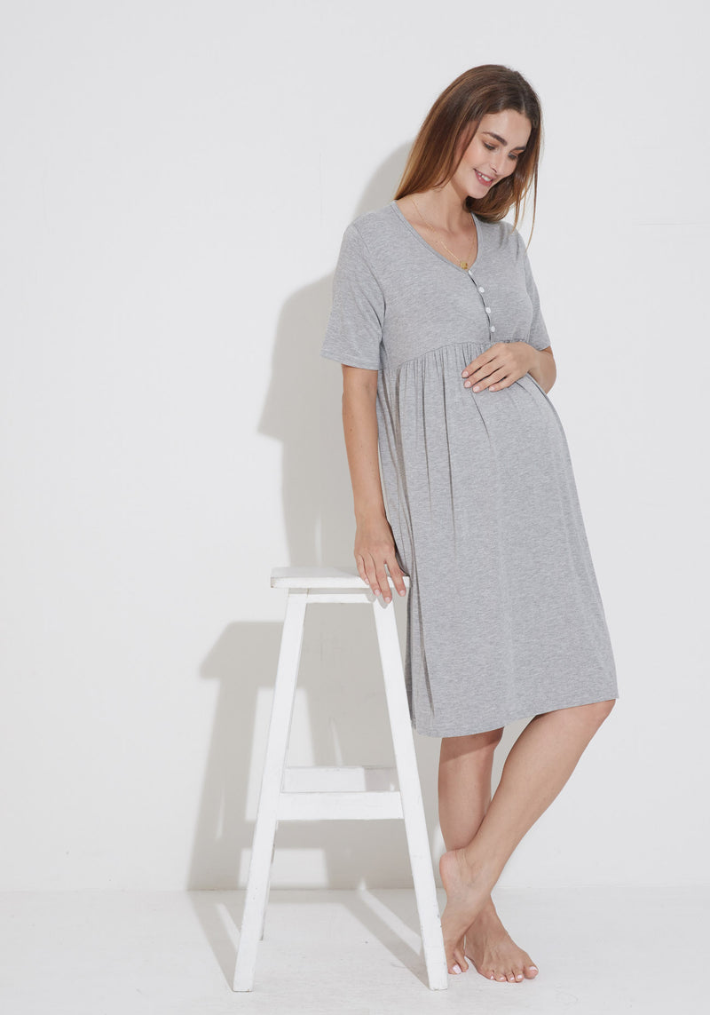 BAMBOO JERSEY NURSING DRESS
