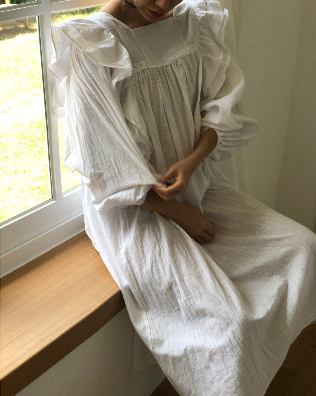 ANGELIC LINEN DRESS