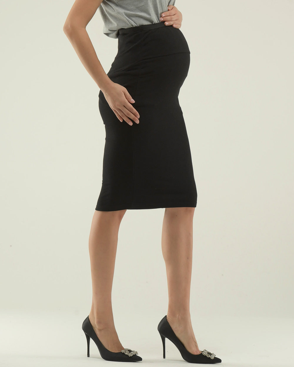 ESSENTIAL PENCIL JERSEY SKIRT