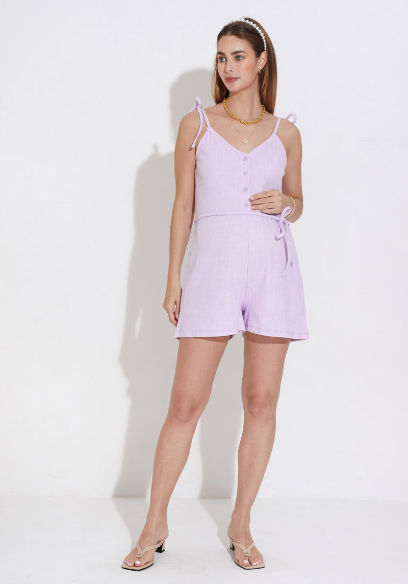 LUXE TERRY NURSING ROMPER