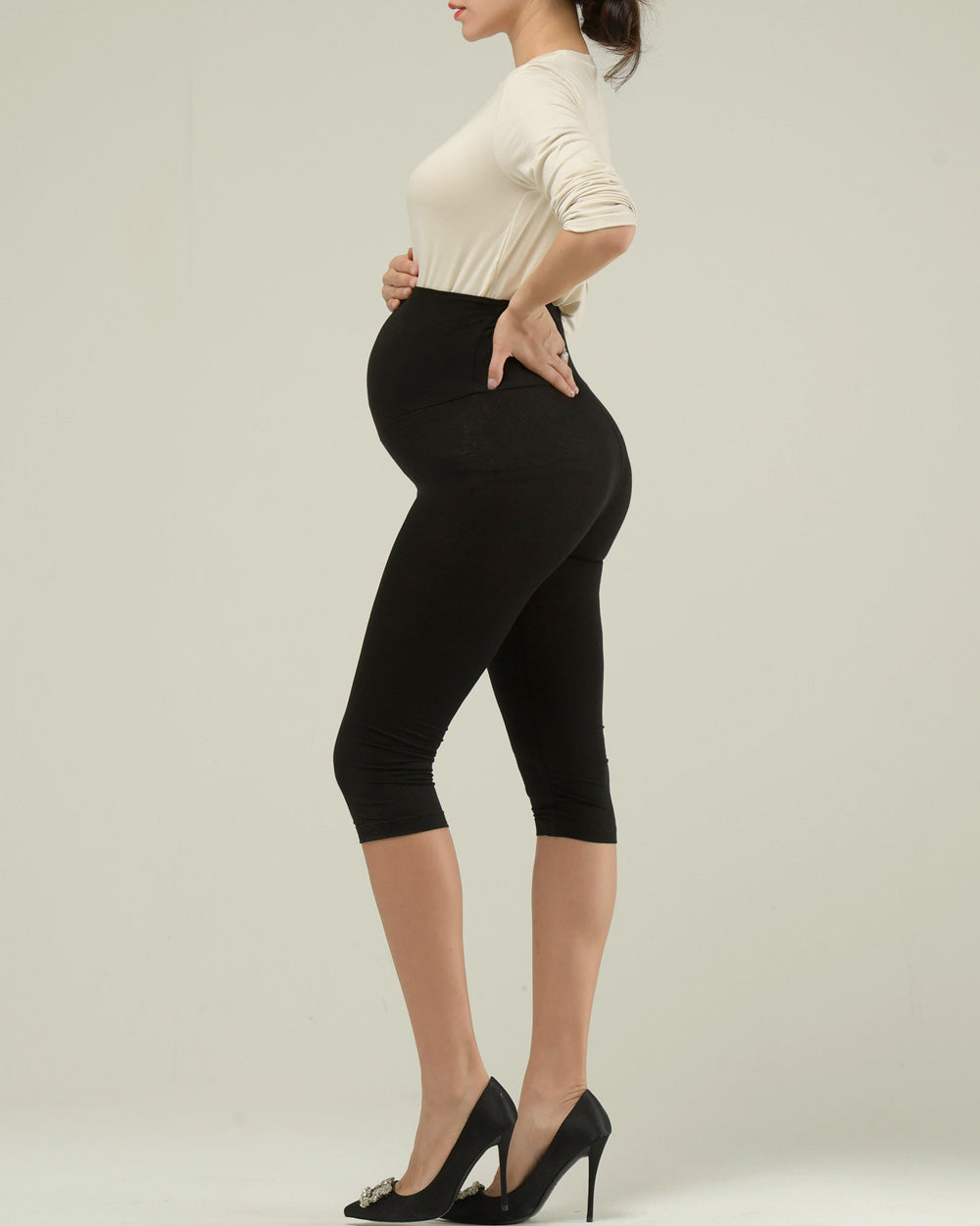 CROPPED VELVET PUDDING LEGGINGS