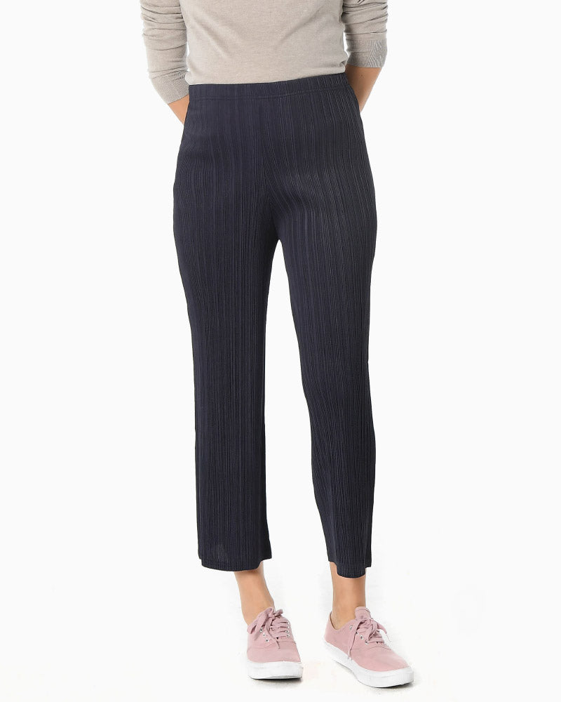 PLEATED CROP PANTS