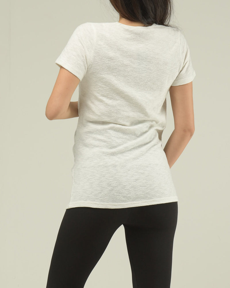 AIRY SHIRRED T-SHIRT
