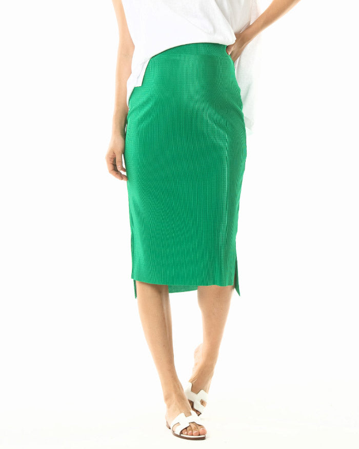 [SMALL BUMP] PLEATED PENCIL SKIRT