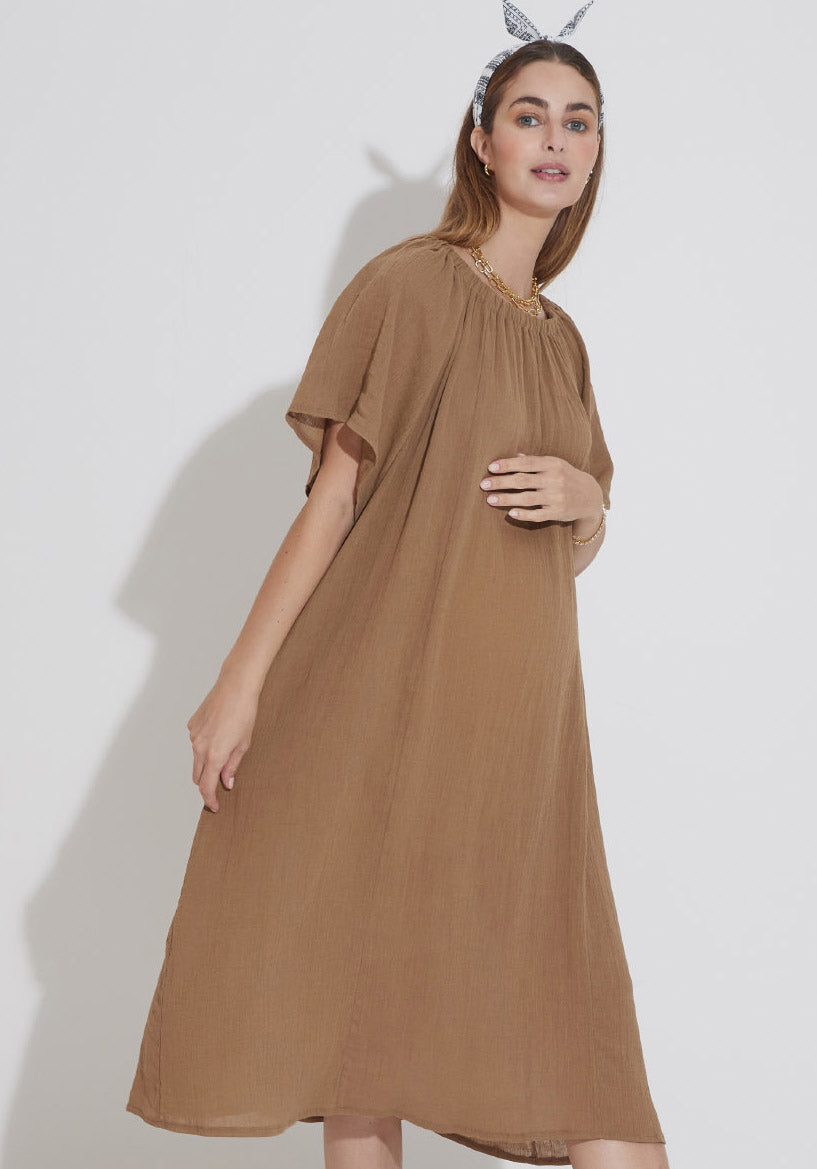 AIRY GAUZE NURSING DRESS