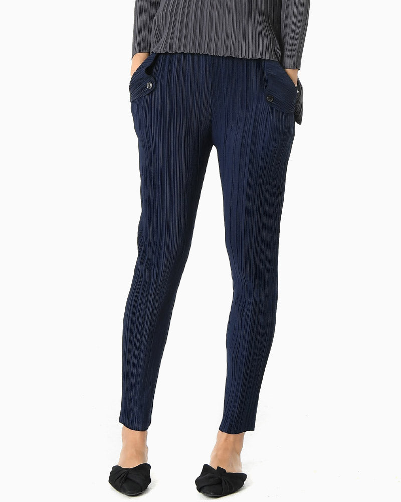 PLEATED FLAP POCKET PANTS