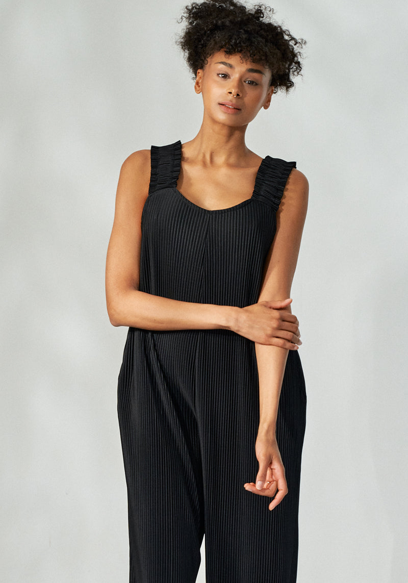 CAREFREE PLEATED NURSING JUMPSUIT