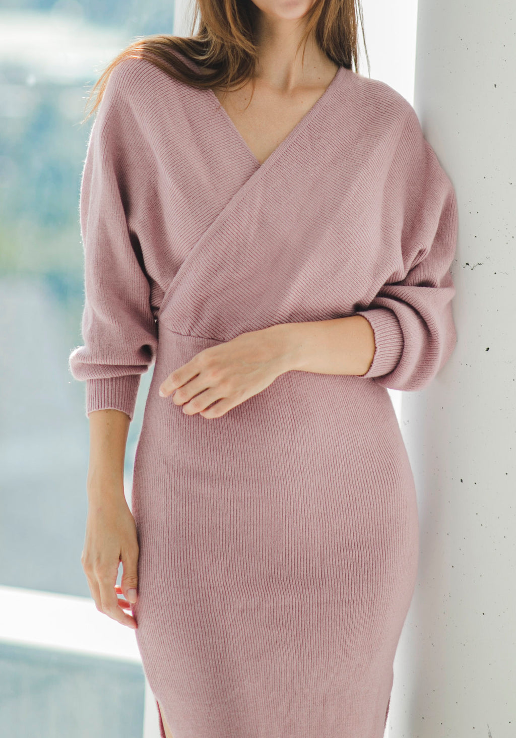 KNIT NURSING DRESS