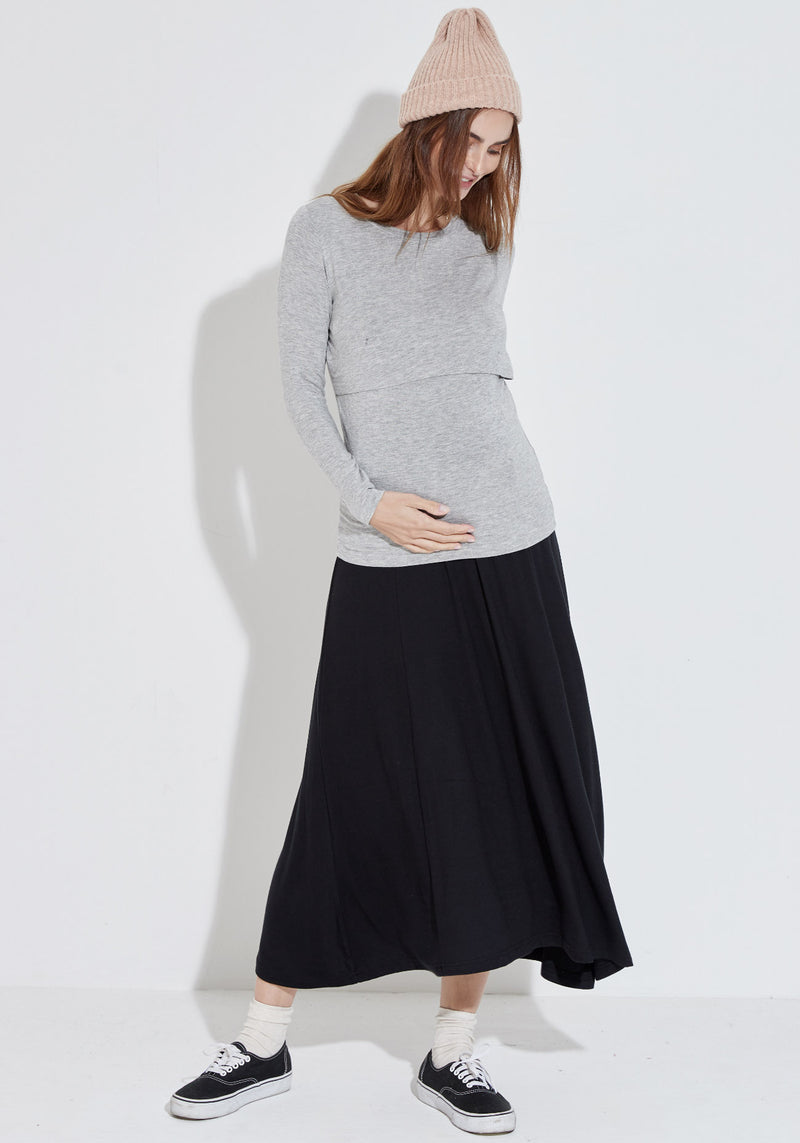 SOFT PUDDING JERSEY SKIRT