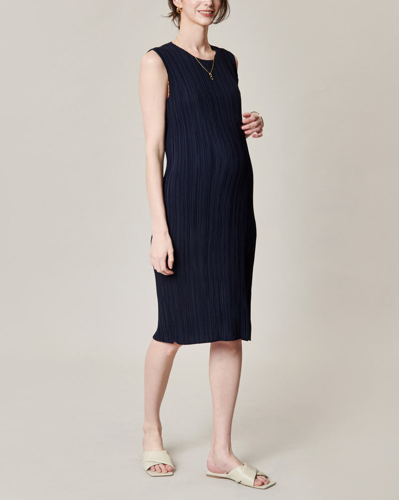 LUXE PLEATED MIDI DRESS