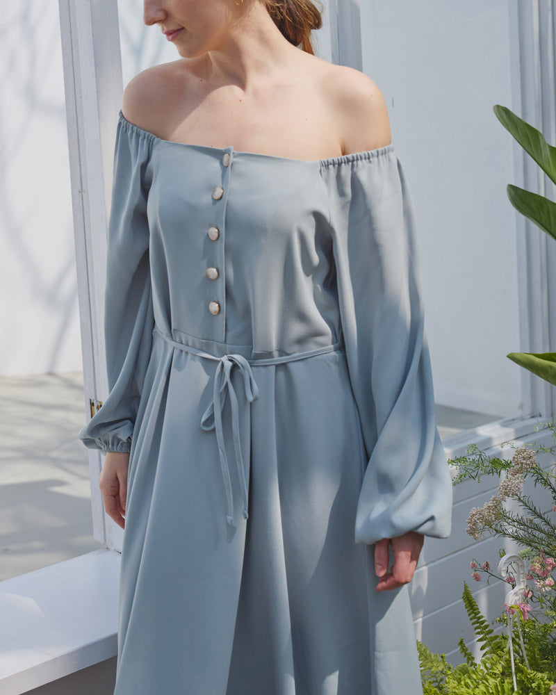 OFF SHOULDER NURSING DRESS