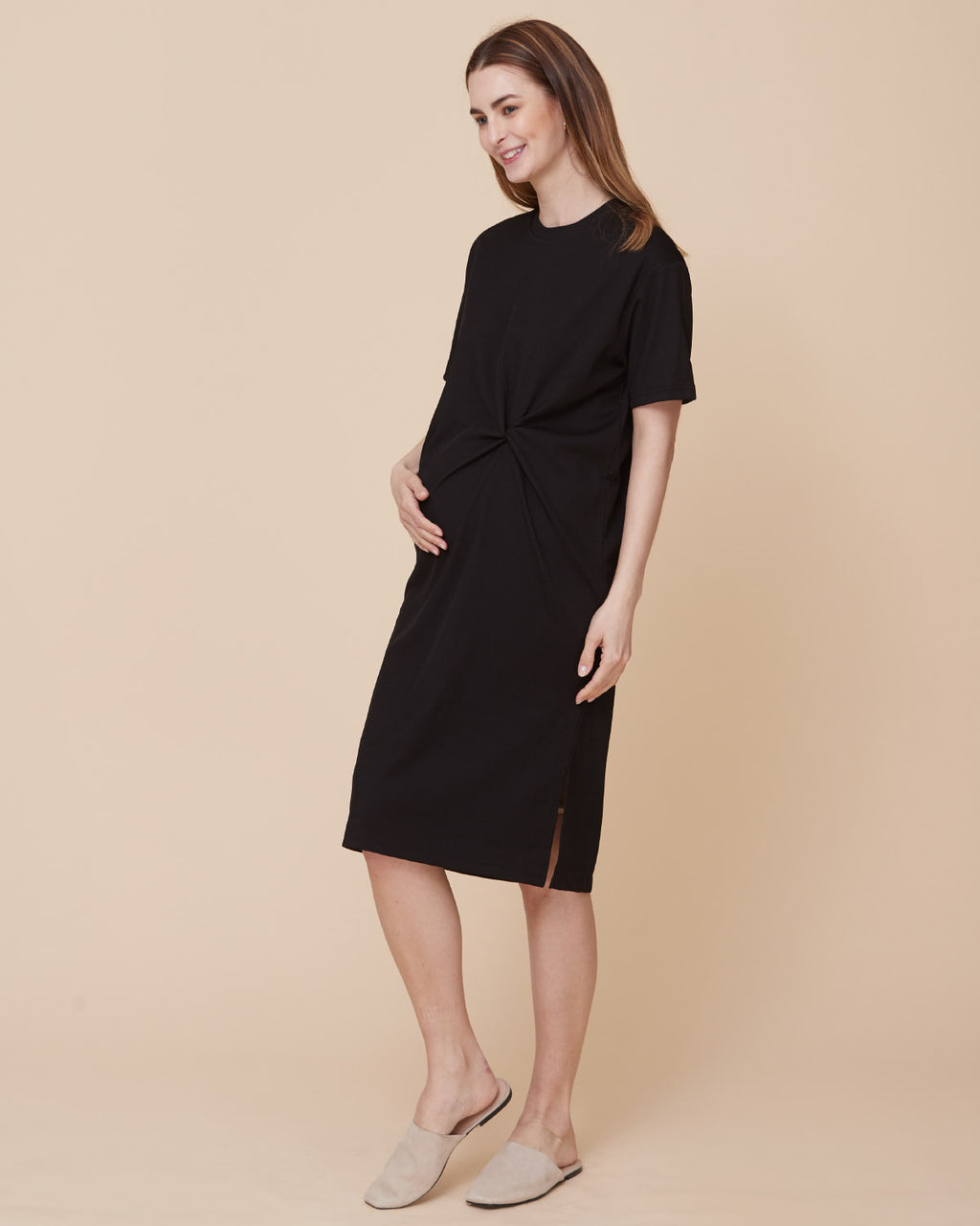 RIBBED KNOT DRESS