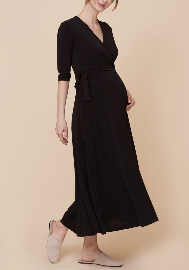 SLINKY JERSEY NURSING WRAP DRESS