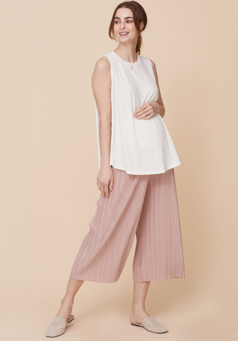 PLEATED PUDDING JERSEY PANTS