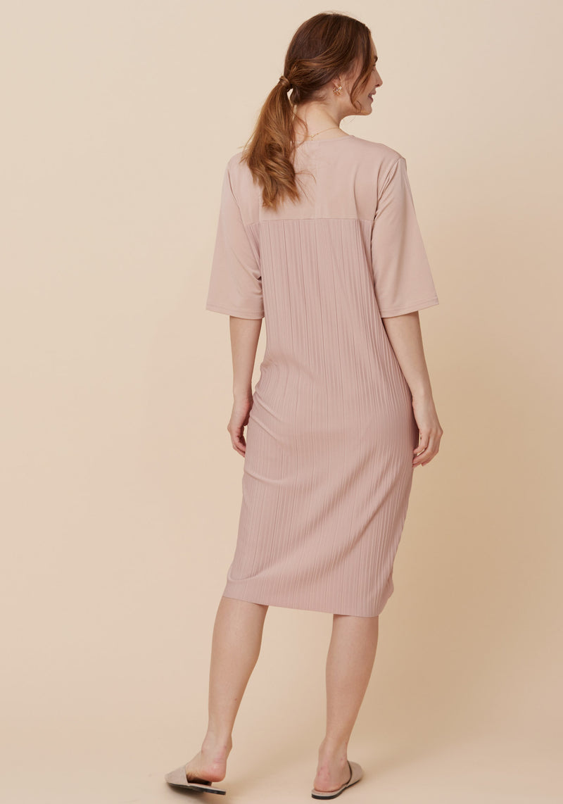 COOLING PLEATED NURSING DRESS