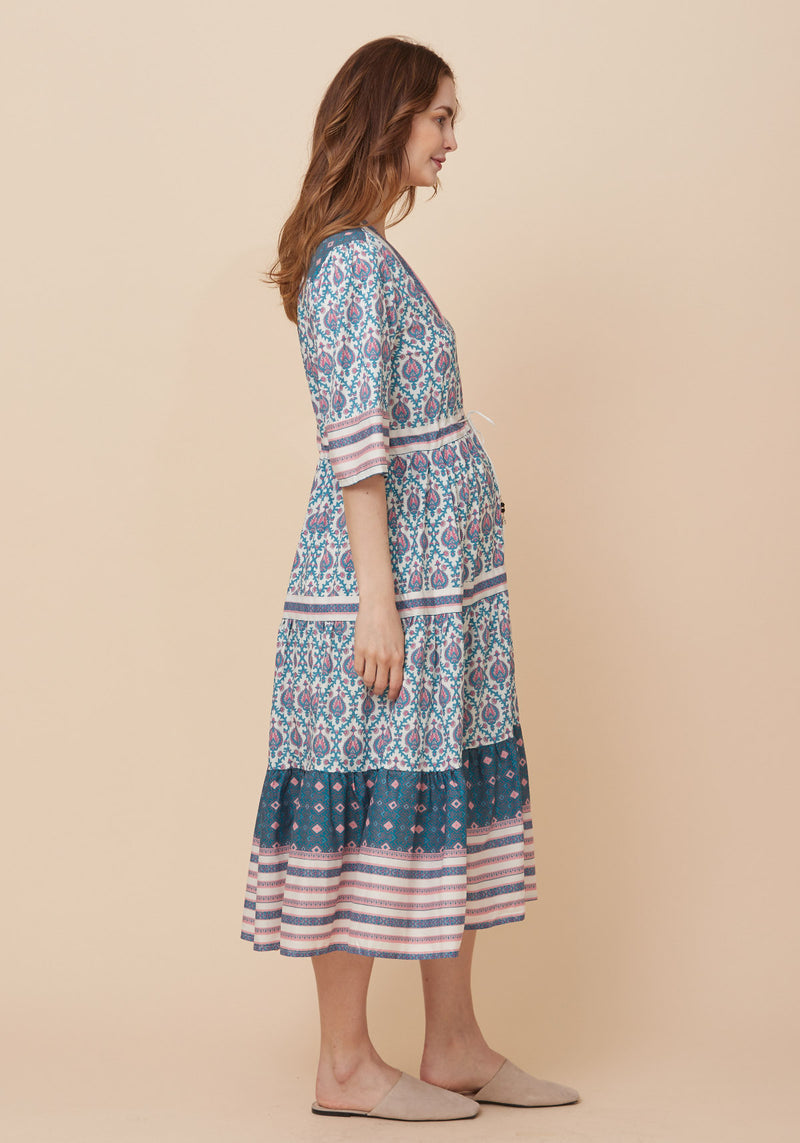 GINA NURSING CREPE DRESS